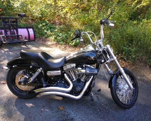 Motorcycle detailing Harley wide glide