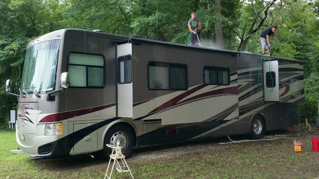 RV Detailing – Freehold NJ – Pine Cone Resort Campground